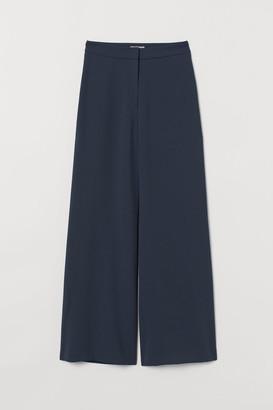 H&M Wide-leg Pants - Turquoise