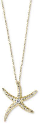 Effy Seaside by Diamond Pavé Starfish Pendant Necklace (1/2 ct. t.w.) in 14k Gold