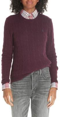 Polo Ralph Lauren Cable Knit Wool & Cashmere Sweater