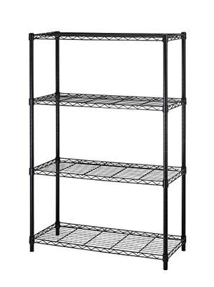 NSF Wire Shelf Metal 4shelf Wire Shelving Unit Garage Large Storage Shelves Heavy Duty Height Adjustable Utility Commercial Grade Steel Layer Shelf Rack Organizer for Kitchen Bathroom Bedroom