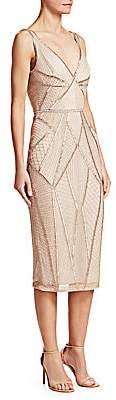 Rachel Gilbert Women's Kylah Embellished V-Neck Dress