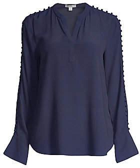 Joie Women's Abe Button Sleeve Blouse