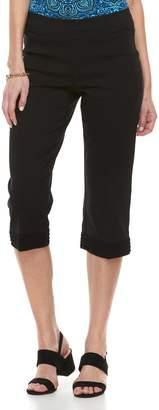 Dana Buchman Women's Millenium Lace-Hem Capri Pants
