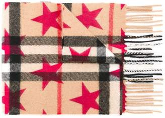 Burberry mini 'Classic' check and star print scarf