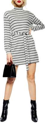 Topshop Stripe Belt Minidress
