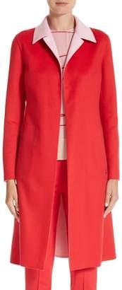 Akris Palma Double Face Cashmere Reversible Coat