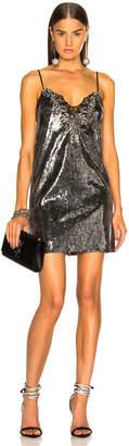 Dundas Sequin Embroidered Slip Dress in Gunmetal   FWRD