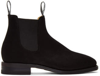 R.M. Williams Black Suede Comfort RM Boots