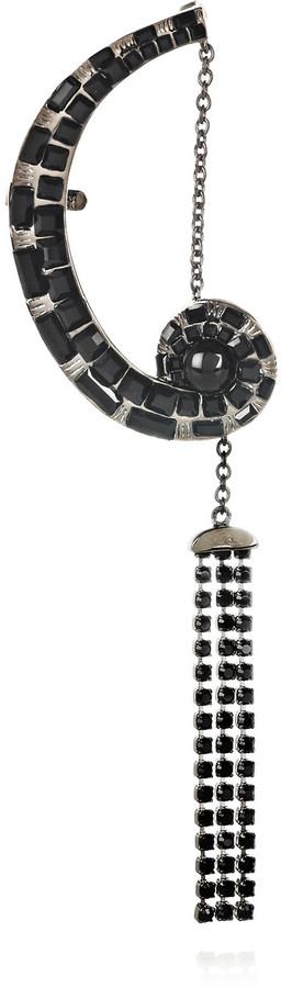 Etro Rhodium-plated Swarovski crystal ear cuff