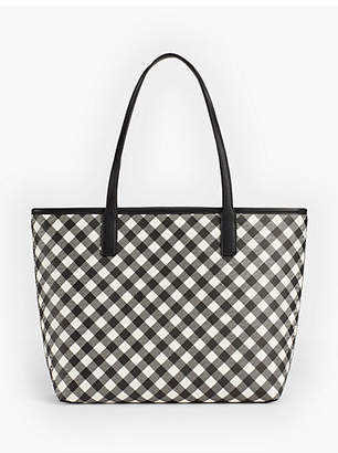 Talbots Buffalo Plaid Tote
