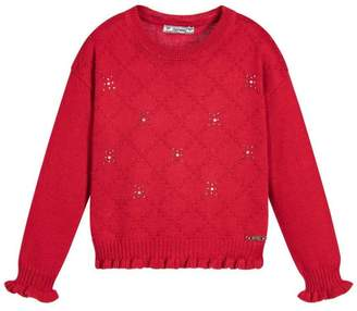 Mayoral Red Knitted Sweater