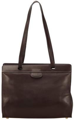 Hermes Vintage Brown Leather Handbag