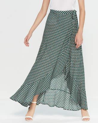 Band of Gypsies Wrap Print Maxi Skirt