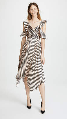 Self-Portrait Self Portrait Stripe Midi Dress