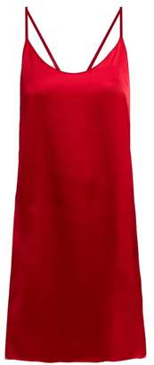Araks Pearl Silk Satin Slip Dress - Womens - Mid Red