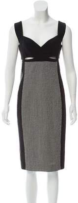 Narciso Rodriguez Gingham Midi Dress