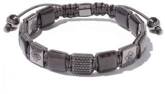 Black Diamond Shamballa Jewels 18kt white gold, grey sapphire and Lock bracelet