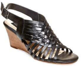 Steve Madden Steven by Livvey Leather Wedge Sandals