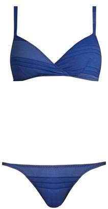 Lisa Marie Fernandez Yasmin Striped Bikini Set - Womens - Blue Stripe