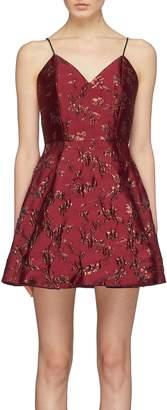 Alice + Olivia 'Anette' floral jacquard sleeveless mini dress