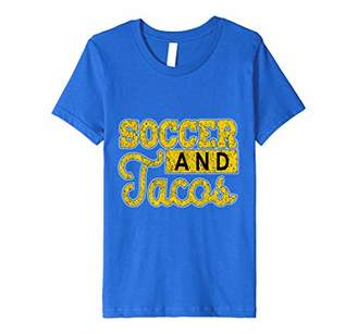 Funny Soccer T Shirt - Soccer and Tacos Shirt Gift