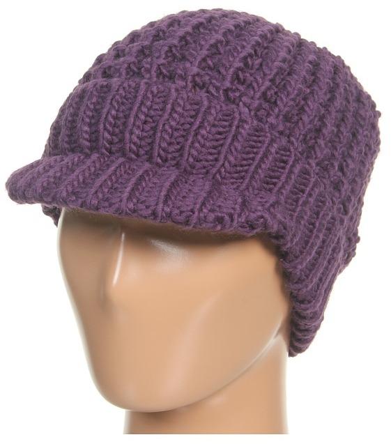 MICHAEL Michael Kors Michael Kors Peak Hat (Deep Purple) - Hats