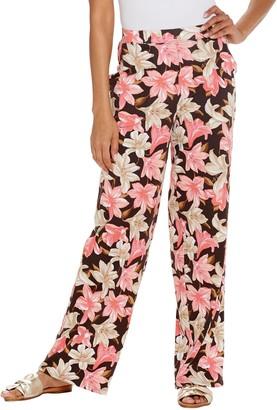 Denim & Co. Beach Tall Pull-On Wide Leg Knit Pants