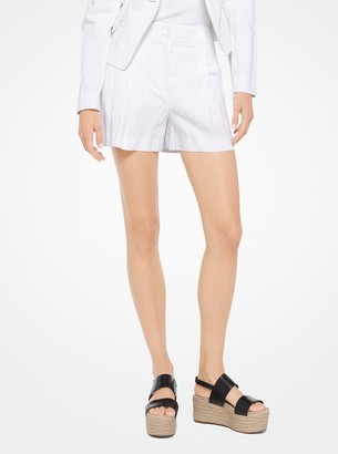 Michael Kors Crushed Cotton Shorts