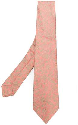 Kiton floral embroidered tie