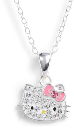 Hello Kitty R) Crystal Pendant Necklace