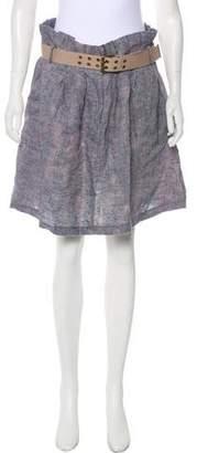 Elizabeth and James Linen Knee-Length Skirt