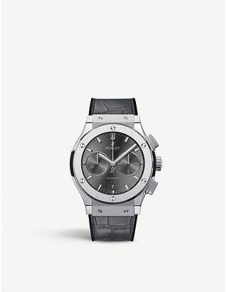 Hublot Classic fusion 521.NX.7071.LR titanium and alligator leather watch