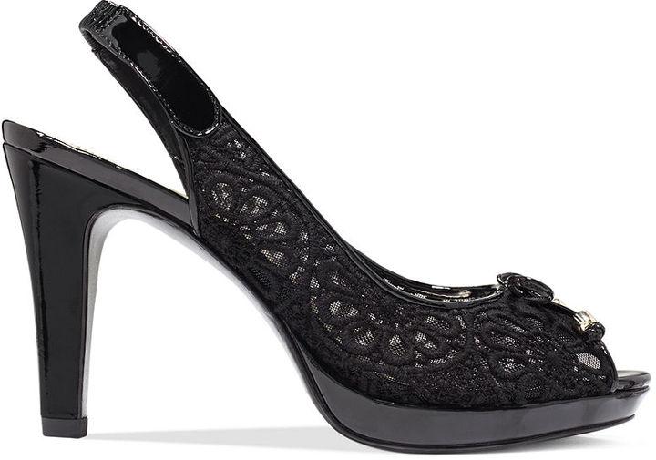 Anne Klein Shoes, Edythe Slingback Platform Pumps