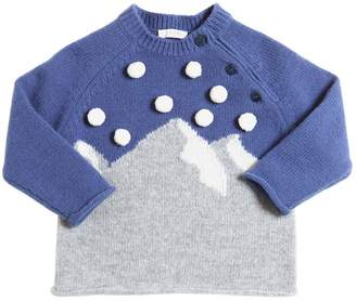 Il Gufo Merino Wool Sweater W/ Pompoms