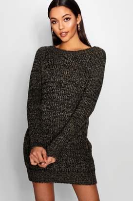 boohoo Soft Marl Knit Jumper Dress