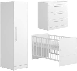 Little Acorns Portofino Cot Bed, Dresser And Single Wardrobe