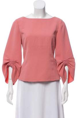 Tibi Long Sleeve Structured Blouse