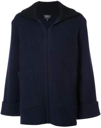 A.P.C. zipped flared cardigan