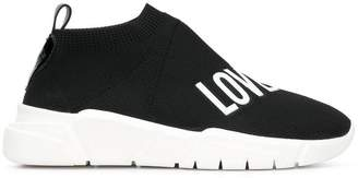Love Moschino logo slip-on sneakers