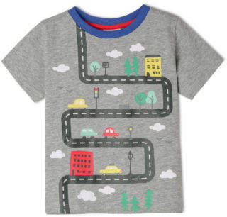 Sprout NEW Boys Essential T/Shirt TBS19000-CW7 Grey Marle