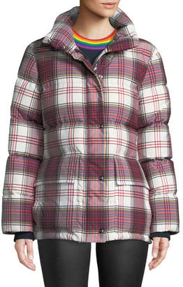 Burberry Selsey Check Down-Fill Puffer Jacket