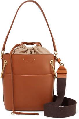 Chloé Roy Small Leather Bucket Bag - Light brown