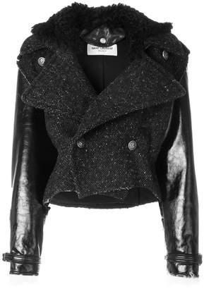 Saint Laurent knitted biker jacket