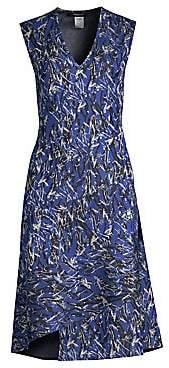 Derek Lam Women's Sleeveless V-Neck Bias Seam Dress