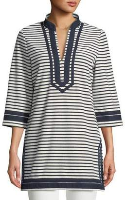 Tory Burch Tory Striped Cotton Tunic