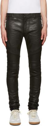 Balmain Black Coated Super Skinny Jeans $1,300 thestylecure.com