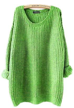 melitop Women's Pullovers Sweater Loose Outwear Fashion Oversized Knitted Fallow coat (, M)