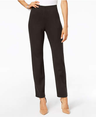 JM Collection Hollywood Ponte-Knit Pull-On Pants