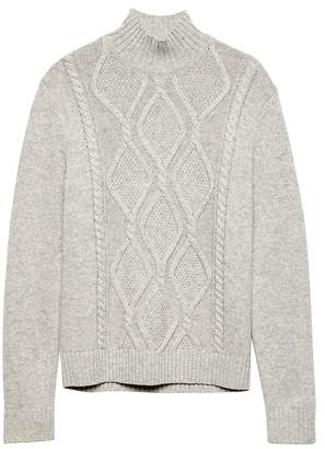 e429c0834a Banana Republic Cable-Knit Mock-Neck Sweater