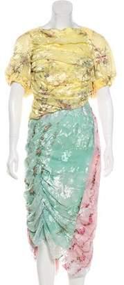 Preen by Thornton Bregazzi Floral Midi Dress